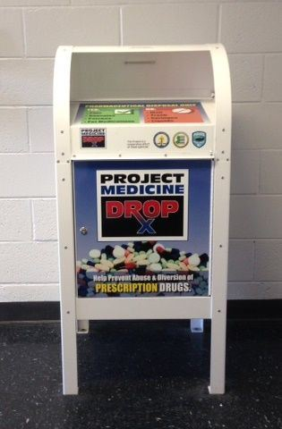 White project medicine drop box