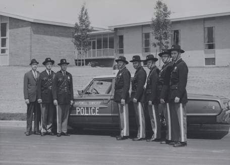 1963 Patrol Division Officers black and white image