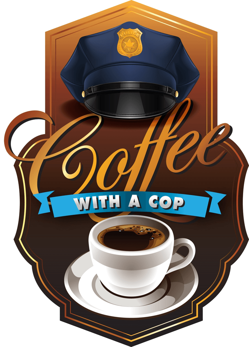 Officers hat over a generic cup of coffee and saucer