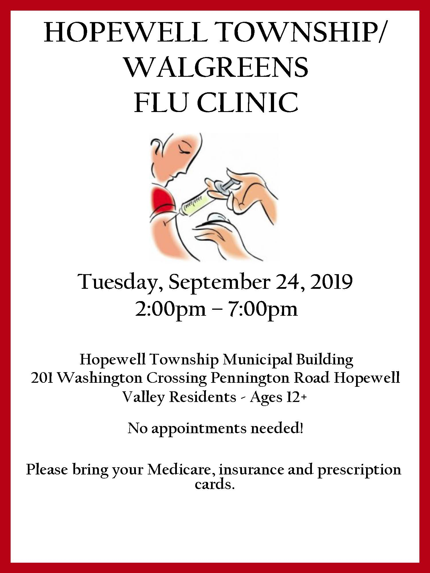 2019 Flu Clinic Flyer