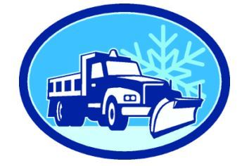 snow plow and snowflake cartoon