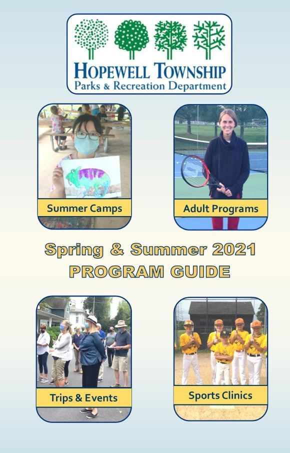 recreation program guide for spring and summer 2021